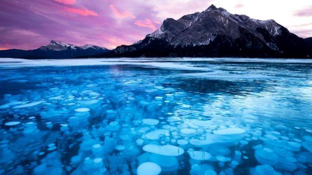 Застывшие метановые пузыри легковоспламенимы