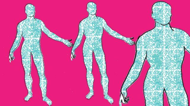 Ilustração de corpo-bactéria