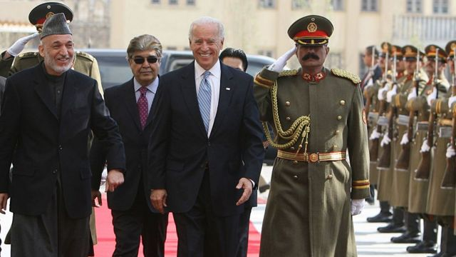 Biden makes a surprise visit to Afghanistan as vice-president in 2011