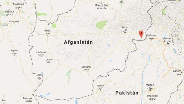 Mapa de la ubicación del ataque