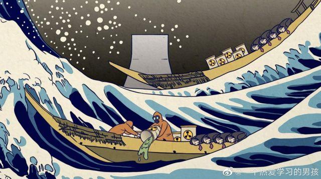 这张改编的讽刺插图由中国网友创作。