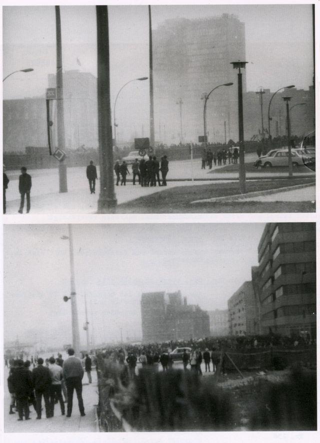 A Stasi fez fotos da multidão reúnida para ouvir os Rolling Stones