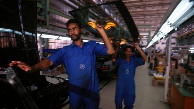 Mercedez Benz factory in Pune