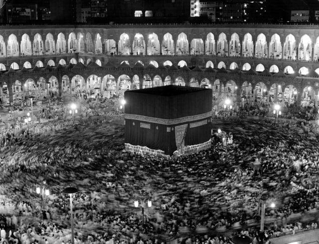 Ka'bah suci di Mekah pada 1971
