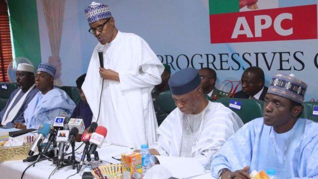 Buhari, Ndị isi APC