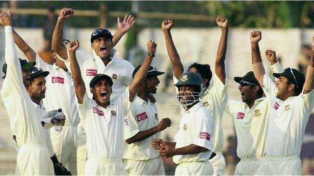 উল্লসিত বাংলাদেশ ক্রিকেট দল