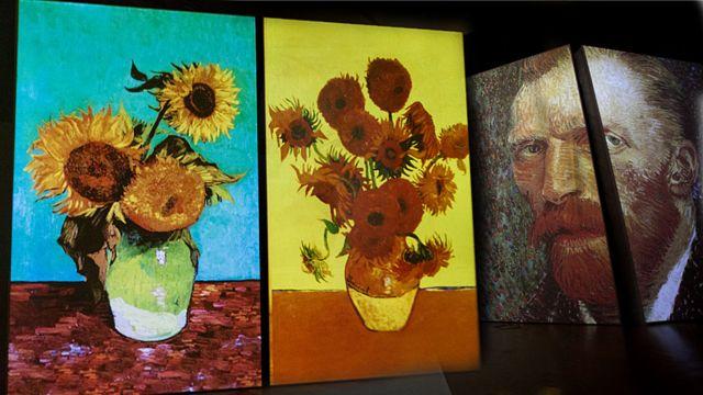Van Gogh y girasoles