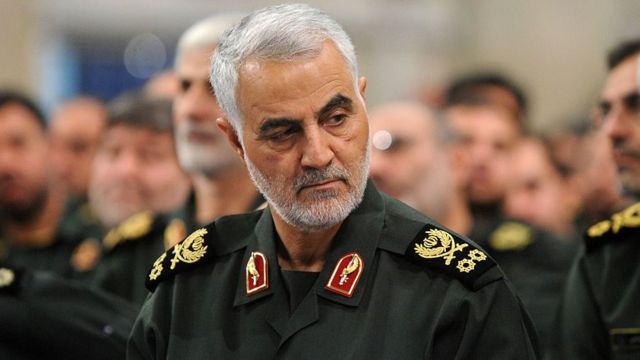 قائد فيلق القدس التابع للحرس الثوري الإيراني، قاسم سليماني