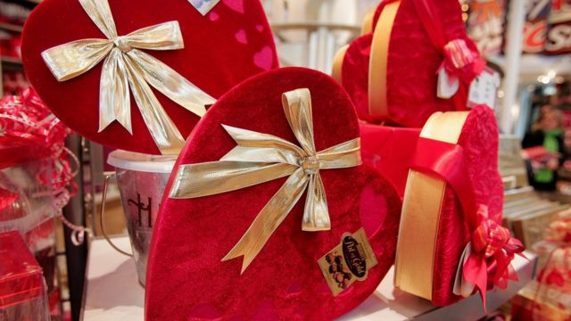 Valentine's Day chocolate boxes