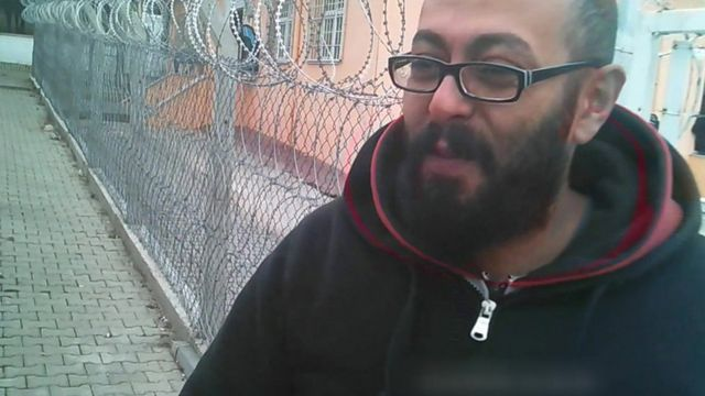 Ahmed, a Syrian refugee who is being detained in Turkey.