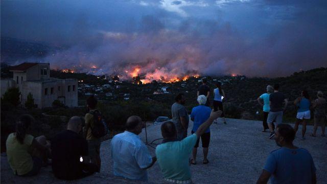 Рафина, населенный пункт недалеко от Афин, 23 июля 2018 года