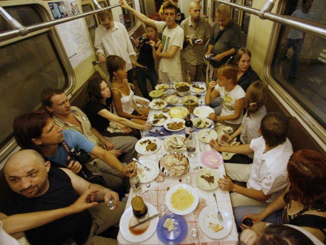"""Акция """"ПИР"""", 25 августа 2007 года, кольцевая линия московского метрополитена"""