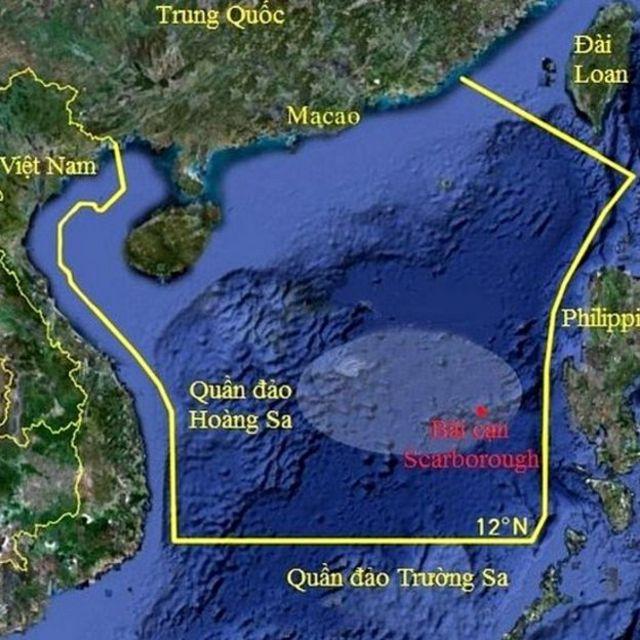 Khu vực Trung Quốc đơn phương cấm đánh bắt cá ở Biển Đông theo đồ họa Google được VnExpress công bố