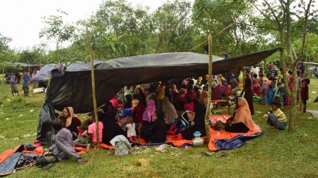 Refugiados rohingyas.