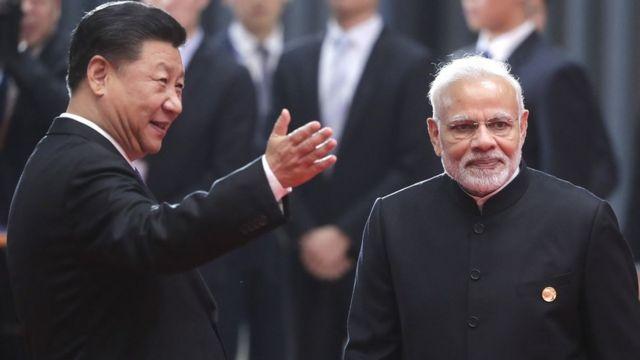 中国国家主席习近平和印度总理莫迪