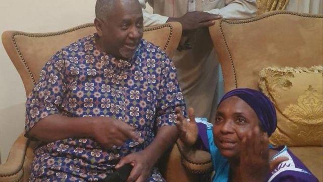 Aworan Sambo Dasuki ati mọlẹbi rẹ
