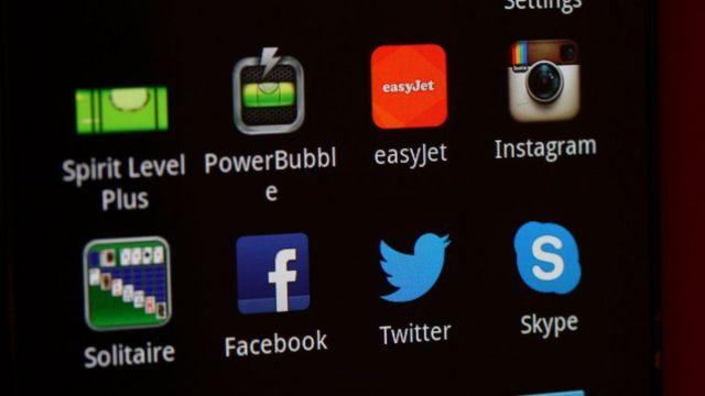 Apps en un teléfono móvil