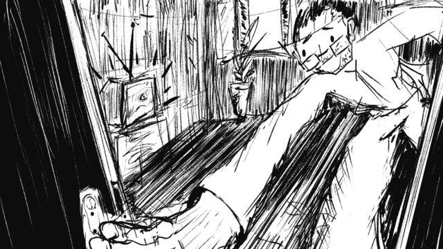 رسم كاريكاتوري لعبد الناصر العويني