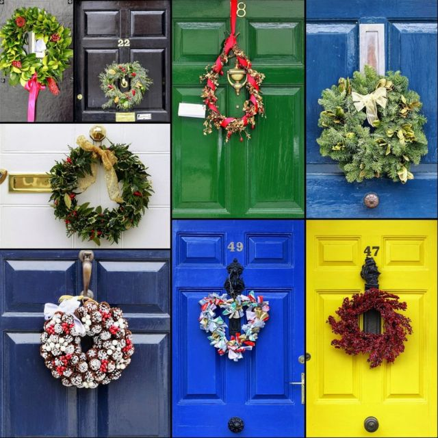 Collage de decoraciones.