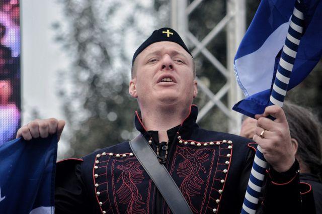 Grčki nacionalisti na protestu u Solunu