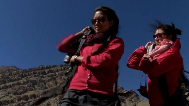 Trekkers in Ladakh, Northern India.