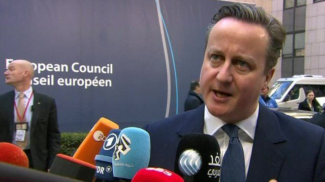 David Cameron at the European Council, Brussels