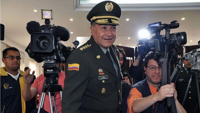 Óscar Naranjo, en una imagen de su época como general de la Policía.