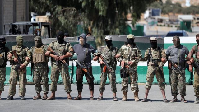 İdlib'deki Heyet Tahrir Şam milisleri