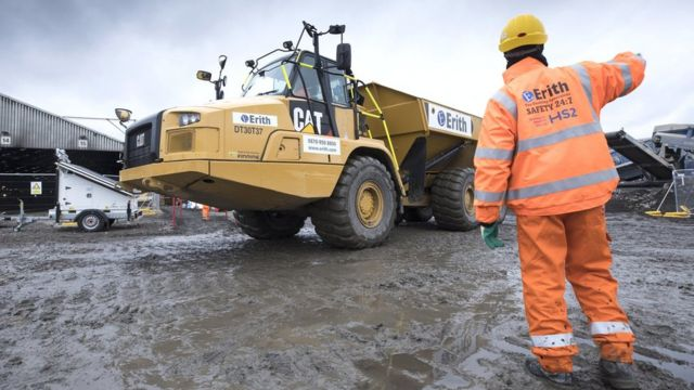 Construction worker on Old Oak Common site