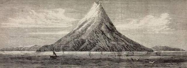เกาะภูเขาไฟกรากาตัวได้สิ้นสลายไปหลังจากการระเบิดในปี ค.ศ. 1883