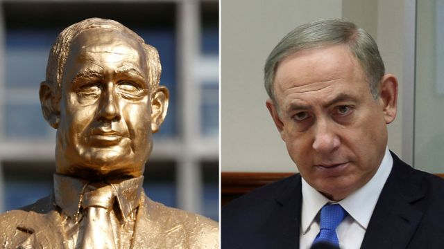 وجه التمثال ووجه نتنياهو