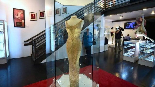 Marilyn Monroe's dress on display in Los Angeles, California