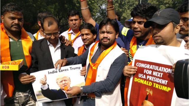 भारत में ट्रंप के कुछ समर्थक
