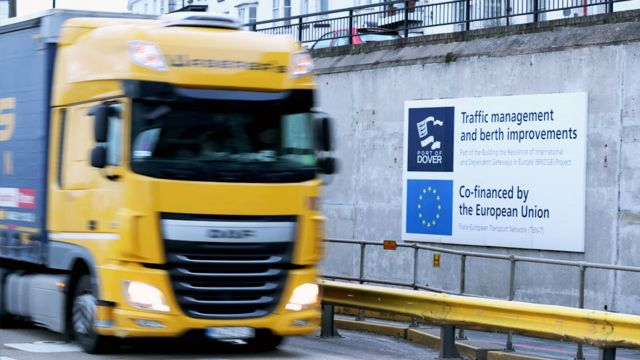 Lorry heading to Dover