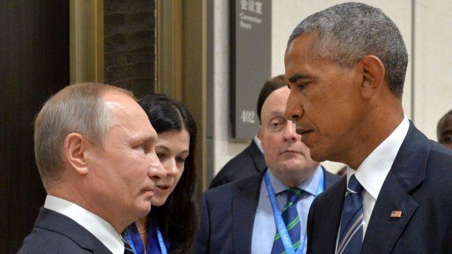 Президенты России и США Владимир Путин и Барак Обама