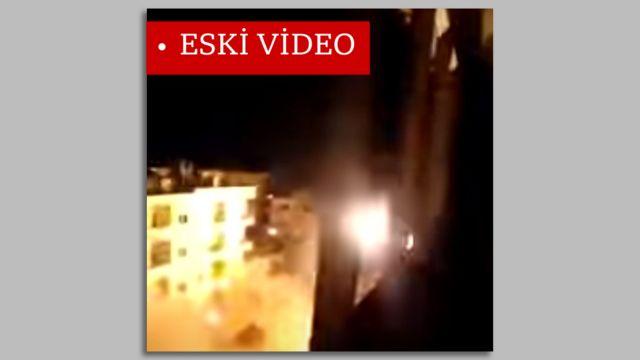 İsrailli yetkilinin paylaştığı patlama görüntüsü aslında Suriye'de çekilmiş.