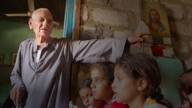 Ayaad in the classroom where he has taught Muslim and Christian children for decades