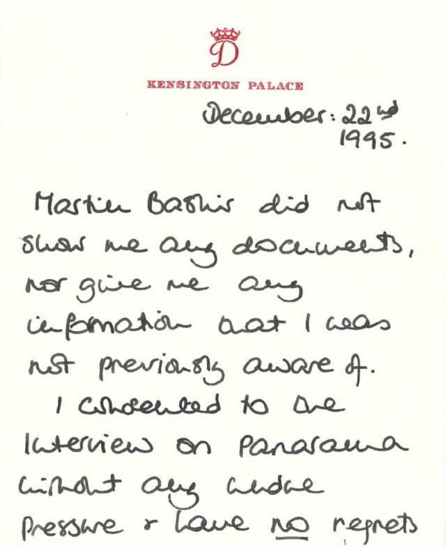 Una nota de Diana a Bashir