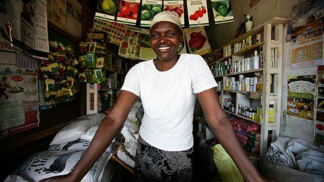 Продавец семян в Кении