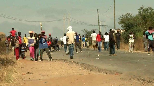 Protestors in Zimbabwe