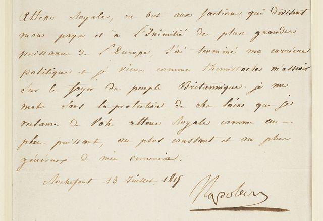 Carta de Napoleón