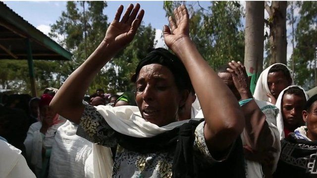 Mourners in Ethiopia