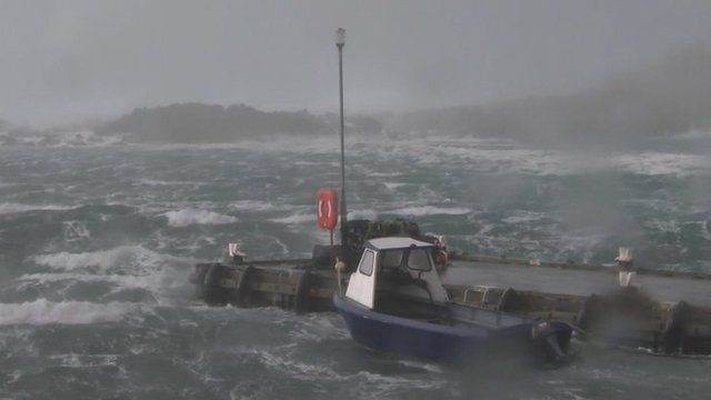Boat off the coast of Shetland
