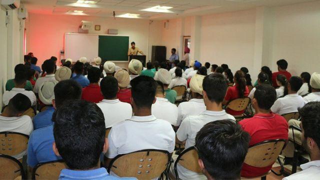 తరగతి గదిలో విద్యార్థులు / Students in a class room listening to their teacher