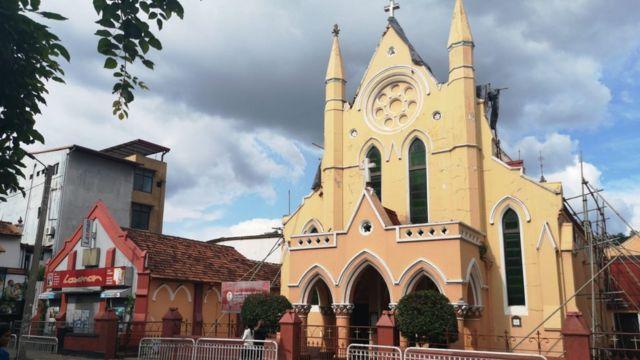 โบสถ์แห่งหนึ่งในเมืองแคนดี