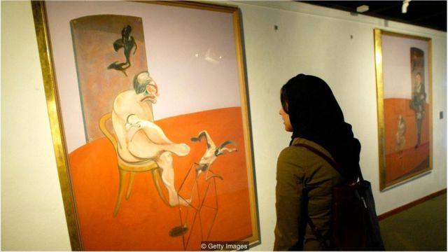 Tríptico de 1968 de Francis Bacon, mostrando dois homens nus deitados lado a lado