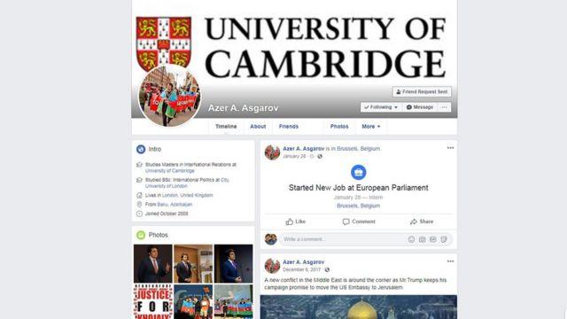 Azər Əsəgorvun Facebook hesabı