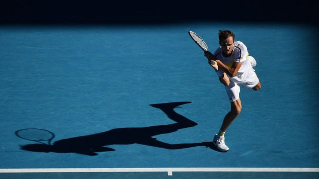 Даниил Медведев во время четвертьфинала