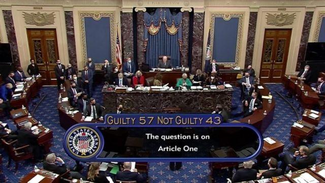 Vote on impeachment of Trump in Congress on Saturday, February 13.