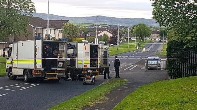 Londonderry alert: Petrol bombs thrown at police officers